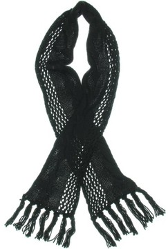 Nine West Womens Crochet Fringe Rectangle Scarf