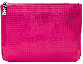 Kenzo Large Pouch in Fuchsia.