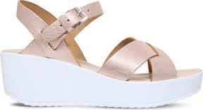 Miss KG Parker metallic leather sandals