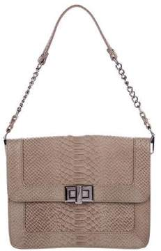 Rebecca Minkoff Embossed Leather Shoulder Bag - GREY - STYLE