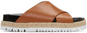Marni Brown Criss-Cross Slide Sandals