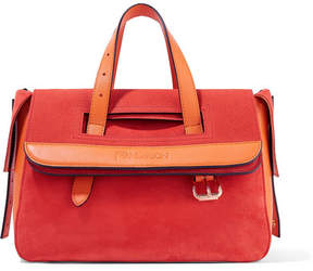 J.W.Anderson Tool Mini Suede, Nubuck And Leather Tote - Orange