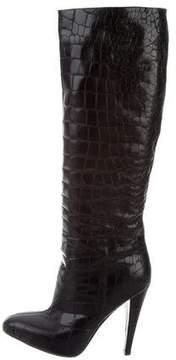 Giambattista Valli Embossed Leather Boots