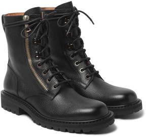 Dries Van Noten Pebble-Grain Leather Boots
