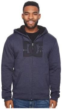DC Star Sherpa 3 Zip Fleece Top Men's Sweatshirt
