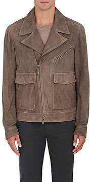 Luciano Barbera Men's Suede Moto Jacket
