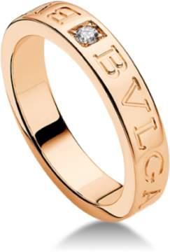 Bulgari Bvlgari 18K Rose Gold and Diamond Band Ring AN854185