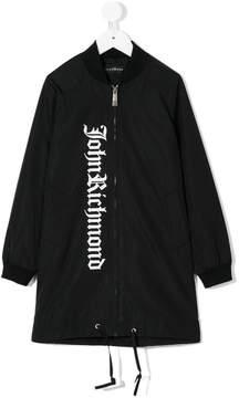 John Richmond Kids logo print bomber jacket
