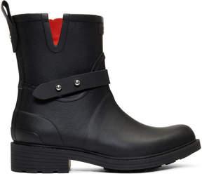 Rag & Bone Black Moto Rain Boots