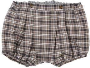 Marie Chantal Baby Boy Classic Tartan Bubble Shorts - Grey/Camel