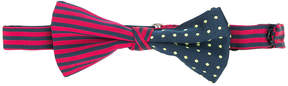Etro striped and polka-dot bow tie