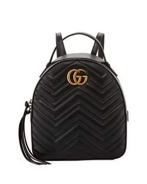 Gucci GG Marmont Quilted Leather Backpack - BLACK - STYLE