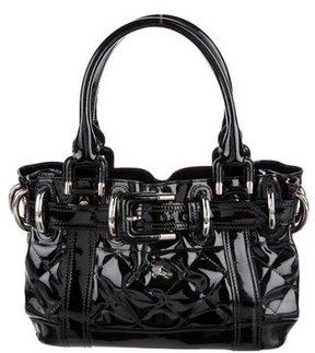 Burberry Patent Leather Beaton Bag - BLACK - STYLE