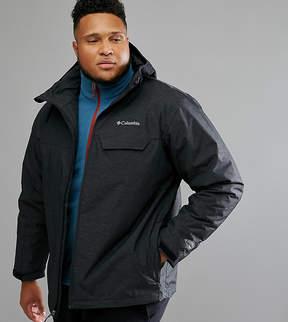 Columbia PLUS Huntsville Peak Jacket Insulated Waterproof Hooded In Black