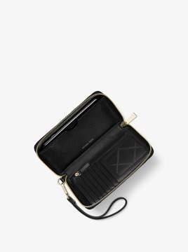 MICHAEL Michael Kors Jet Set Large Embellished Leather Smartphone Wristlet