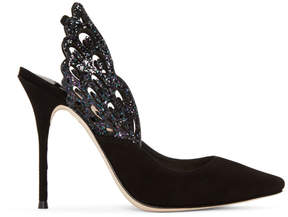 Sophia Webster Black Angelo Slingback Heels