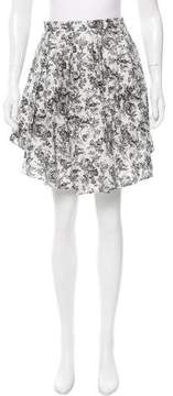 Band Of Outsiders Pleated Toile du Jouy Print Skirt