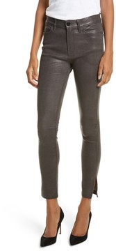 Frame Women's Le High Skinny Slit Leather Pants
