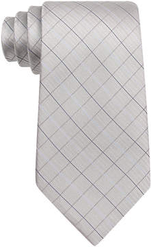 Calvin Klein Boys' Etched Grid Tie