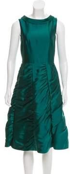 Barneys New York Barney's New York Ruched Silk Dress