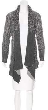 Alberto Makali Open-Front Wool Cardigan