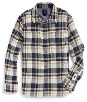 Vans Boy's Banfield Plaid Flannel Shirt