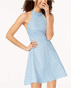 B. Darlin Juniors' Polka Dot Halter Dress