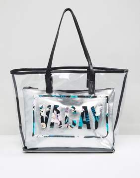 New Look Vacay Clear Beach Shopper Bag