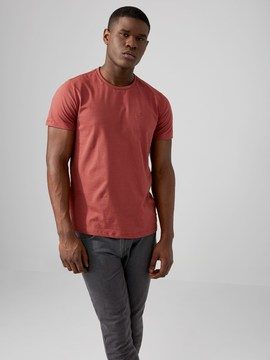 Frank and Oak The Made in Canada Signature T-Shirt in Mahogany