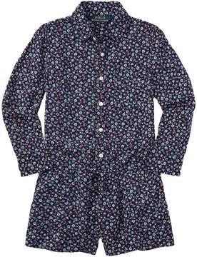 Polo Ralph Lauren Rayon Floral Romper Shortalls (Toddler)