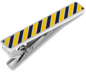 Cufflinks Inc. Varsity Stripes Navy and Gold Tie Clip
