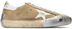 Golden Goose Deluxe Brand Green Nubuck Superstar Sneakers
