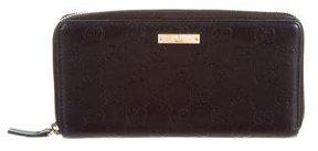 Gucci Guccissima Zip Around Wallet - BLACK - STYLE