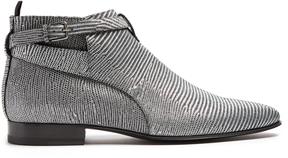 SAINT LAURENT London lizard-effect boots