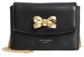 Ted Baker Leorr Bow Leather Crossbody Bag - Black
