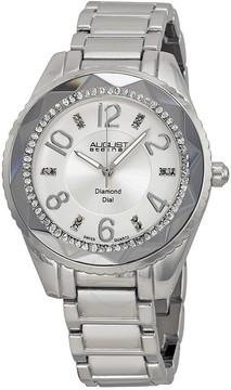 August Steiner Silver Dial Silver-tone Ladies Watch