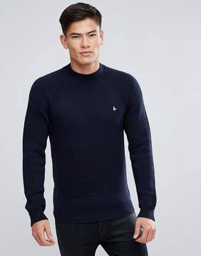 Jack Wills Briercliffe High Neck Sweater In Navy