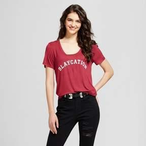 Fifth Sun Women's Slaycation Graphic T-Shirt Burgundy Juniors')