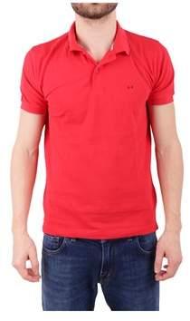 Sun 68 Men's Red Cotton Polo Shirt.
