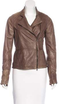 Lot 78 Lot78 Leather Zip-Up Jacket
