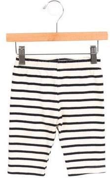 Petit Bateau Girls' Striped Rib Knit Pants