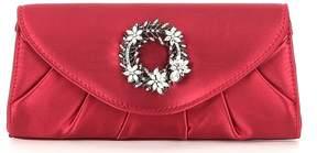 Kate Landry Pleated Wreath-Brooch Clutch