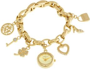Anne Klein Gold-tone Dial Gold Tone Charm Bracelet Ladies Watch