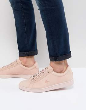 Lacoste Carnaby EVO Sneakers In Pink