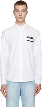 Ami Alexandre Mattiussi White Name Tag Patch Shirt