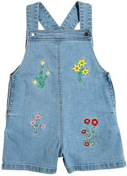Stella McCartney Embroidered Stretch Denim Overalls