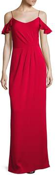 Shoshanna Women's MIDNIGHT Cold-Shoulder Gown