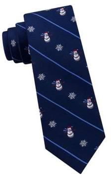Lord & Taylor Boy's Mason Snowman and Snowflakes Silk Tie