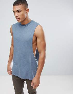 Asos Longline Tank With Extreme Dropped Armhole