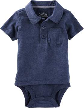 Osh Kosh Oshkosh Bgosh Baby Boy Pocket Double Layer Polo Bodysuit